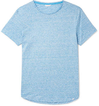 Orlebar Brown Ob-t Slim-fit Striped Linen-jersey T-shirt - Blue