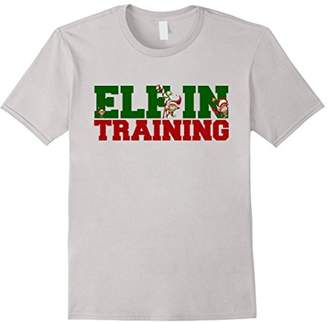 Elf in Training Funny Christmas Holiday Fashion T Shirt Top