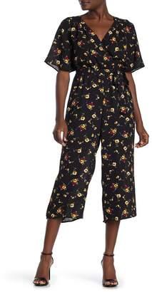 Rowa ROW A Back Cutout Floral Print Jumpsuit
