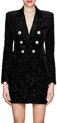 Balmain Women's Velvet Double-Breasted Blazer