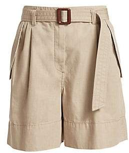 Brunello Cucinelli Women's Belted Cotton Shorts