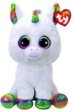 NEW Beanie Boos Large Pixy white unicorn
