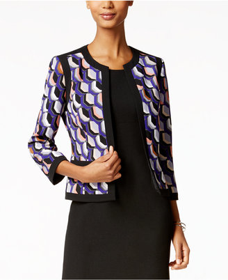 Kasper Printed Open-Front Jacket $119 thestylecure.com