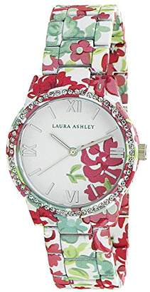 Laura Ashley Women's LA31018H Analog Display Japanese Quartz White Watch $59.99 thestylecure.com