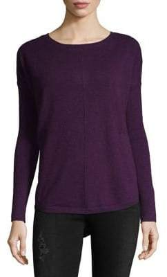 Lord & Taylor Curved Hem Cashmere Sweater