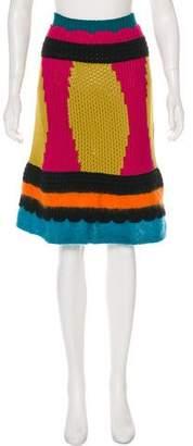 RED Valentino Colorblock Knee-length Skirt