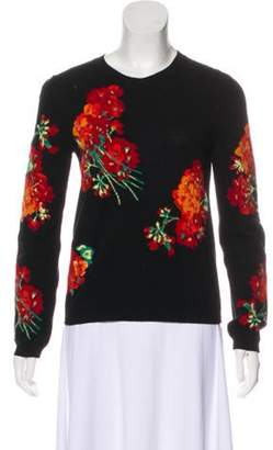 Gucci Floral Knit Sweater Black Floral Knit Sweater