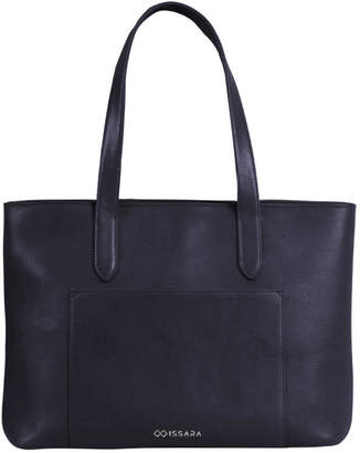 Issara Leather Ziptop Tote