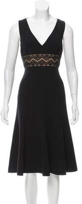 Michael Kors Sleeveless Lace-Accented Dress