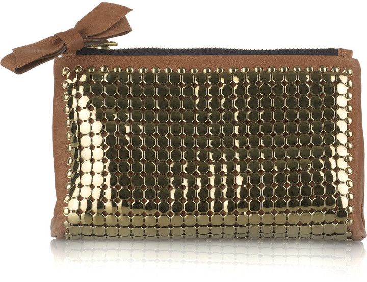 Chloé Candy leather clutch