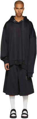Marques Almeida Black Asymmetric Hoodie