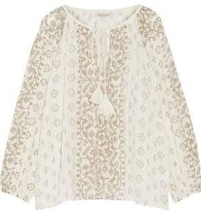 Mes Demoiselles Jarod Printed Cotton-Gauze Blouse