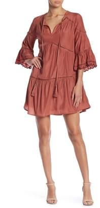 Moon River 3\u002F4 Sleeve Knit Dress
