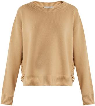 Vince Lace-up side cashmere sweater