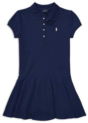 Ralph Lauren Girls' Mesh Polo Shirt Dress - Big Kid
