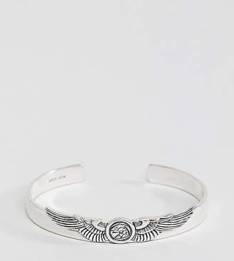 Serge DeNimes messenger bangle in solid silver
