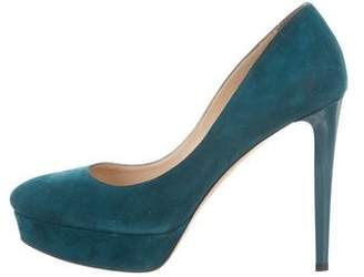 Jimmy Choo Round-Toe Suede Pumps