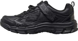 Skechers Boys Nitrate Memory Foam Trainers Black