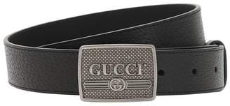 Gucci 30mm Vintage Logo Leather Belt