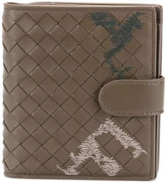 Bottega Veneta embroidered intrecciato mini wallet