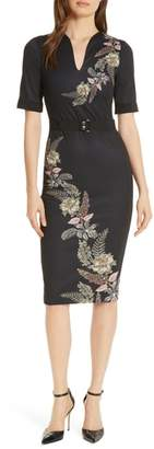 Ted Baker Dollila Pirouette Body-Con Midi Dress