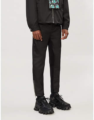 Prada Contrast-panel nylon and cotton-blend jogging bottoms