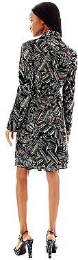 JCPenney Duro Olowu for jcp Belted Leaf Print Trench Coat