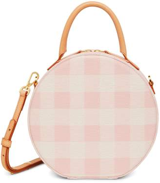 Mansur Gavriel Checker Circle Crossbody - Coral