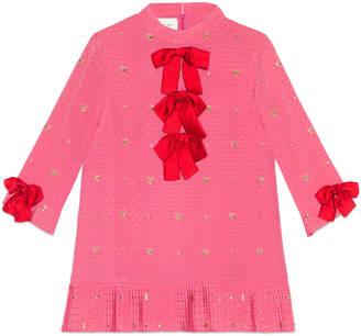 Children's heart lurex silk dress $1,290 thestylecure.com