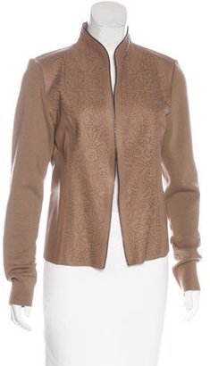 Elie Tahari Leather-Accented Wool Jacket $145 thestylecure.com