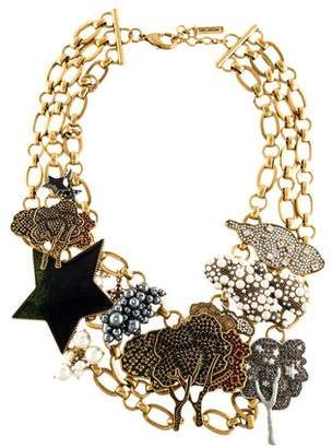 Marc Jacobs Faux Pearl, Crystal & Enamel Tree Clouds & Star Necklace