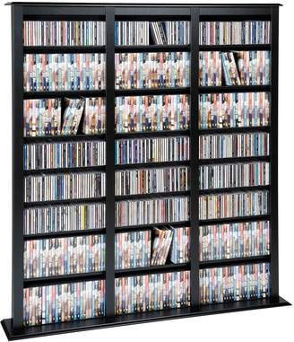 Prepac Triple Width Barrister Multimedia Storage Tower