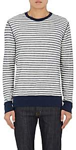 Barneys New York MEN'S STRIPED COTTON LONG-SLEEVE T-SHIRT-IVORYBONE SIZE XL