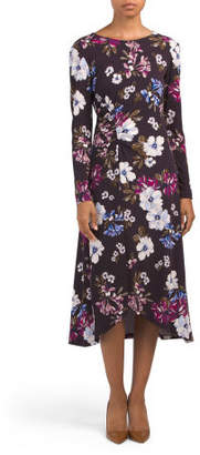 Long Sleeve Floral Jersey Dress