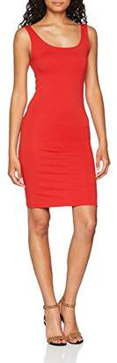 Only Women's Onlbrenda S/l Bodycon Dress JRS Dress, Red (Mars Mars Red), (Manufacturer Size: Large)