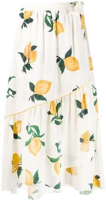 Parker Chinti & lemon wrap skirt