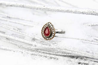 Sultana Sultanesque Silver Ruby Red Ring