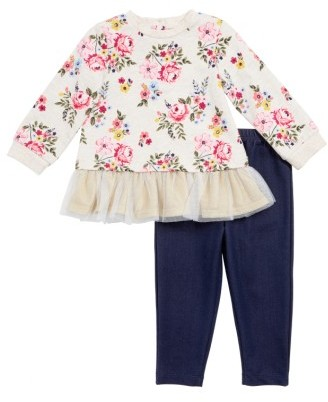 Infant Girl's Little Me Floral Top & Leggings Set $34 thestylecure.com