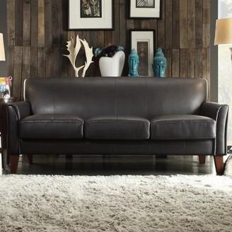 Tribeca Weston Home Faux Leather Sofa