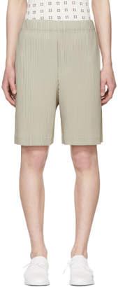 Issey Miyake Homme Plisse Beige Pleated Shorts