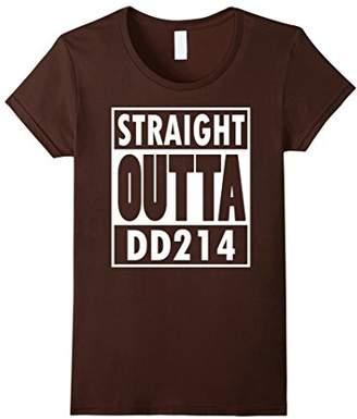 Fleur De Tees Straight Outta DD214 Humor Military T-Shirt