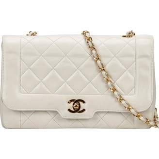 Chanel Vintage Timeless Ecru Leather Handbag