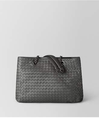 Bottega Veneta Medium Tote Bag In New Light Grey Intrecciato Nappa