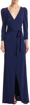 ABS by Allen Schwartz Statement Sleeve Wrap Gown