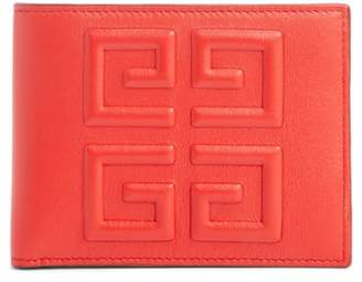 Givenchy Embossed 4G Leather Bifold Wallet