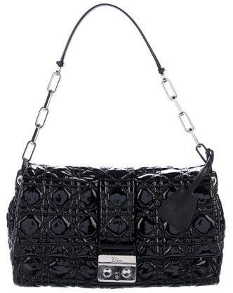Christian Dior Cannage Patent New Lock Flap