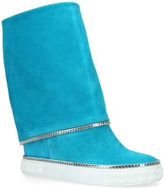 Casadei Chain Foldover Boots