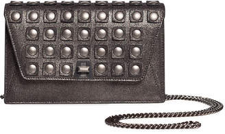 Akris Anouk Grid-Stud Envelope Clutch Bag with Shoulder Chain