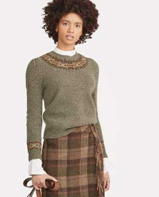 Ralph Lauren Fair Isle Wool-Blend Sweater