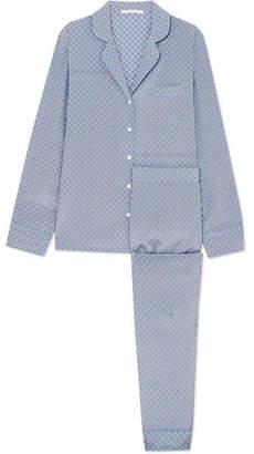 Stella McCartney Poppy Snoozing Printed Stretch Silk-satin Pajama Set - Light blue